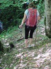 Mary Hiking Out