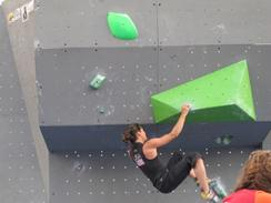 Audrey climbing in Munich