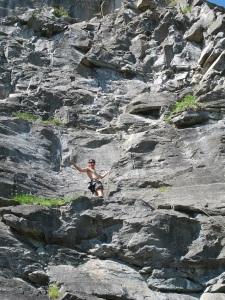 Galen climbing