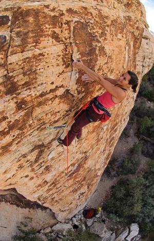 Audrey having some fun in Red Rocks
