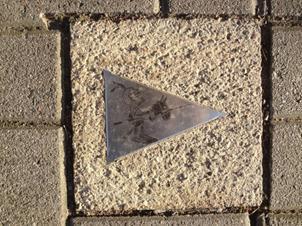 Sidewalk markers