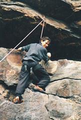 Climbing at the New River Gorge circa 1992