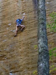Ashima Shiraishi cruising God's Own Stone, Red River Gorge, Ky