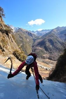Audrey Ice Climbing