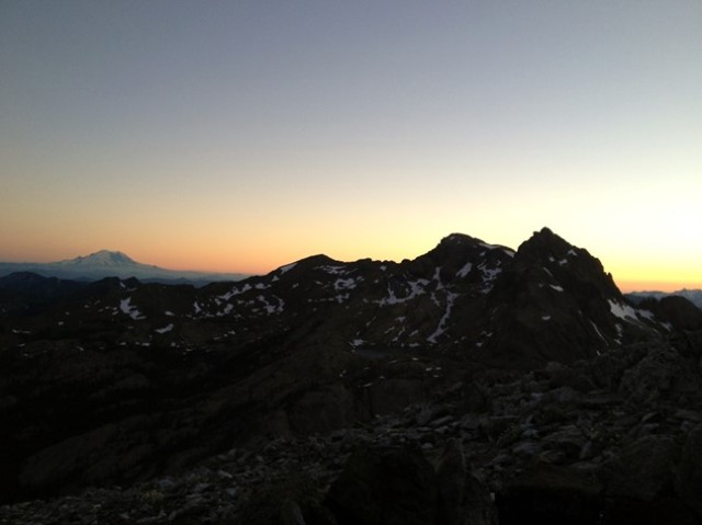 sunset on Rainer
