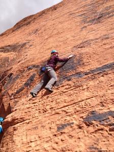 Blindfolded climbing