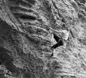 Audrey Sniezek climbing