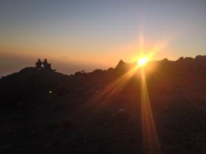 Sunset on Kili