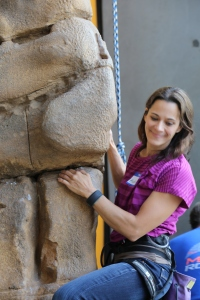 Outdoor Industries Women's Coalition REI Manhatten Beach climbing demonstration photo by Wendell Berger