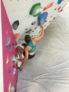 Bouldering at Origin Climbing and Fitness