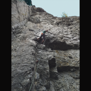 Audrey Climbing