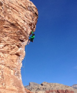 Red rock canyon climbing