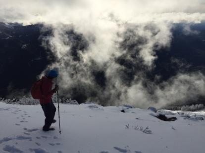 hiking around the summit, , photo by Luke Allen Humphrey